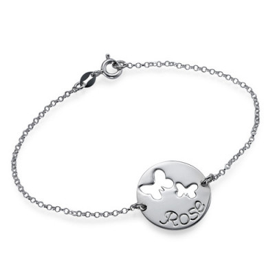Cut Out Butterfly Bracelet/Anklet - The Name Jewellery™