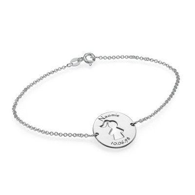 Cut Out Mum Bracelet/Anklet in Sterling Silver - The Name Jewellery™
