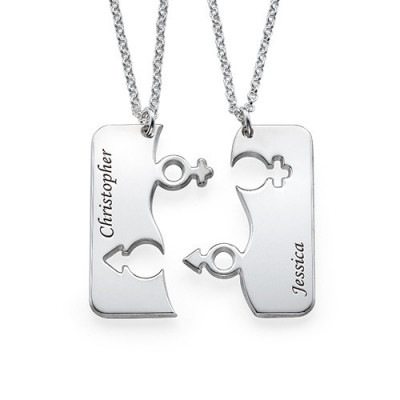 Engraved His and Hers Necklace for Couples - The Name Jewellery™