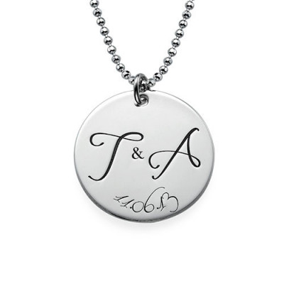 Engraved Initial Necklace with Special Date - The Name Jewellery™