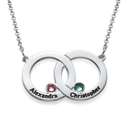 Engraved Interlocking Circle Necklace - The Name Jewellery™
