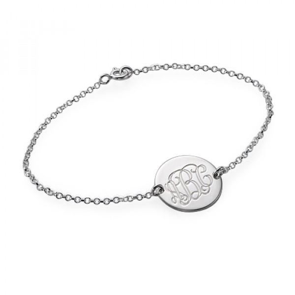 Sterling Silver Monogram Bracelet/Anklet - The Name Jewellery™