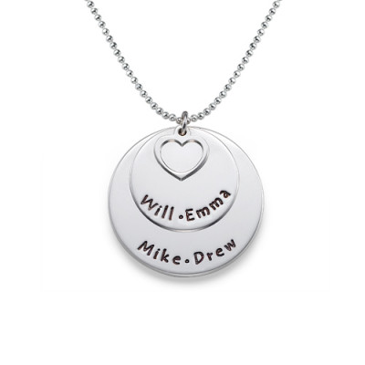 Family Necklace in Sterling Silver - The Name Jewellery™