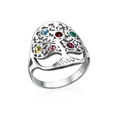Family Tree Jewellery - Birthstone Ring - The Name Jewellery™