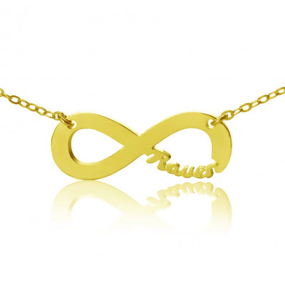 Personalised 18ct Gold Plated Infinity Name Necklace - The Name Jewellery™