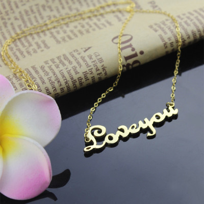 Personalised Cursive Name Necklace 18ct Gold Plated - The Name Jewellery™