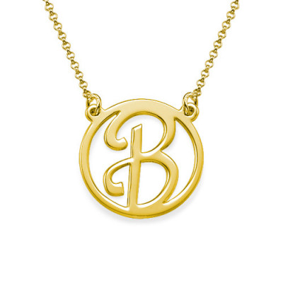 18k Gold Plated Cut Out Initial Necklace - The Name Jewellery™