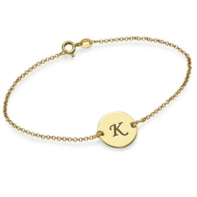 Gold Plated Initial Bracelet/Anklet - The Name Jewellery™