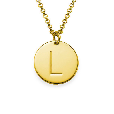 18k Gold Plated Initial Charm Necklace - The Name Jewellery™