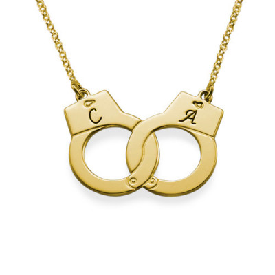 Handcuff Necklace in 18ct Gold Plating - The Name Jewellery™