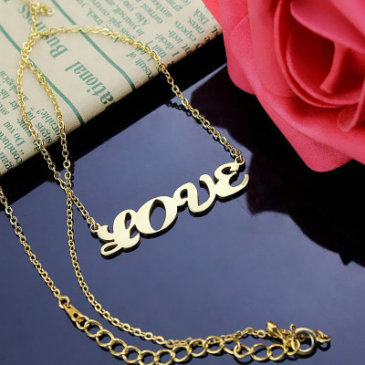 Solid Gold 18ct Capital Puff Font Name Necklace - The Name Jewellery™