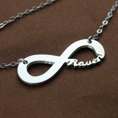 Sterling Silver Infinity Name Necklace - The Name Jewellery™