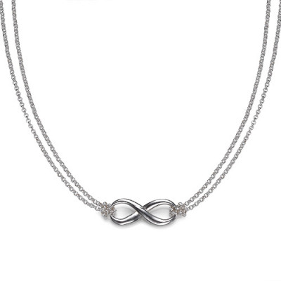 Silver Infinity Necklace - The Name Jewellery™