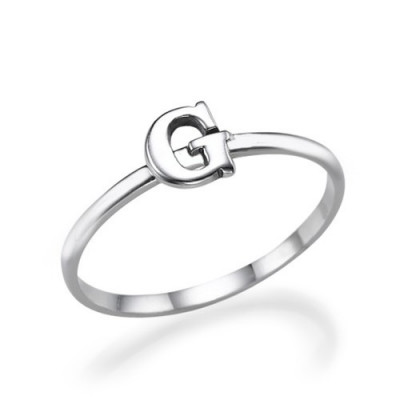 Initial Ring in Sterling Silver - The Name Jewellery™