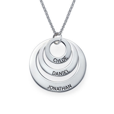 Jewellery for Mums - Three Disc Necklace - The Name Jewellery™