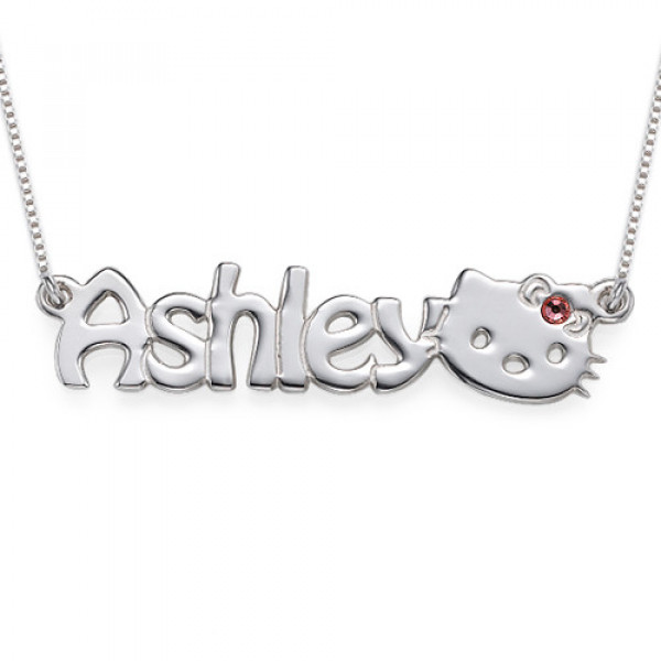 Kitten Nameplate Necklace for Girls - The Name Jewellery™