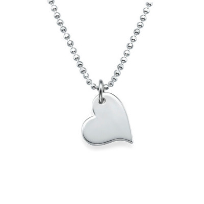 Mother and Daughter Cut Out Heart Necklace Set - The Name Jewellery™