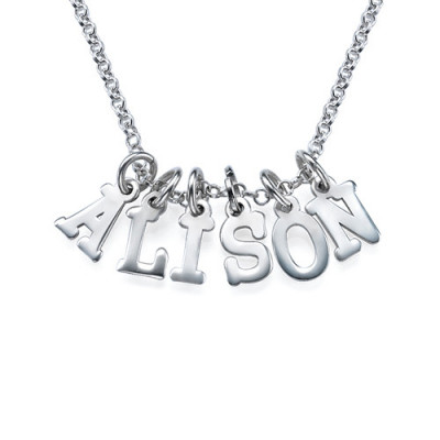 Multiple Initial Necklace in Silver - The Name Jewellery™
