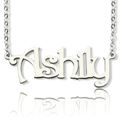 925 Sterling Silver Harrington Font Name Necklace - The Name Jewellery™