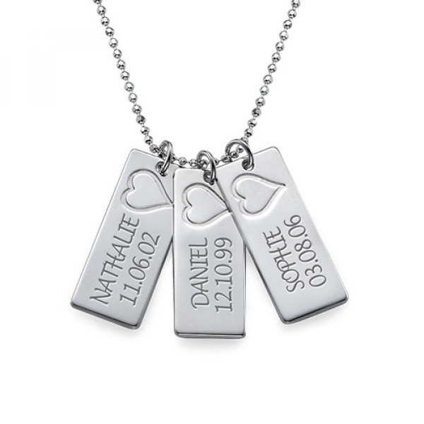 Name Bar Necklace in Silver - The Name Jewellery™