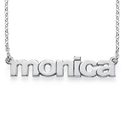 Nameplate Necklace in Lowercase Font - The Name Jewellery™