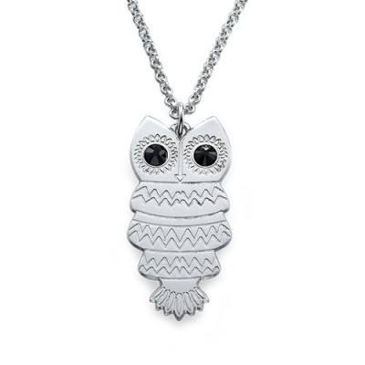 Owl Necklace with Back Engraving - The Name Jewellery™