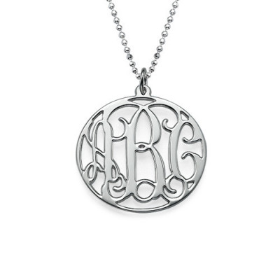 Personalised Circle Initials Necklace - The Name Jewellery™