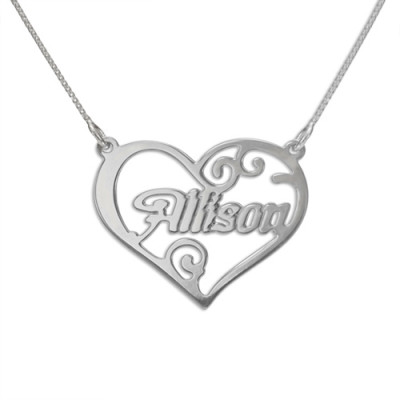 Personalised Heart Name Necklace - The Name Jewellery™