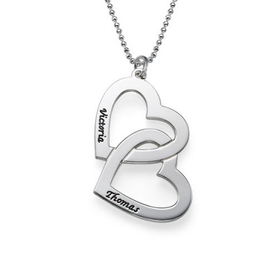 Personalised Heart in Heart Necklace - The Name Jewellery™