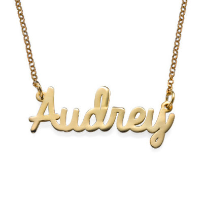18k Gold Platied Cursive Name Necklace - The Name Jewellery™