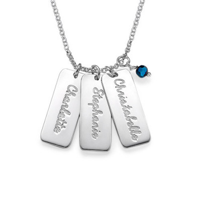 Personalised Necklace with Crystal Birthstone - The Name Jewellery™