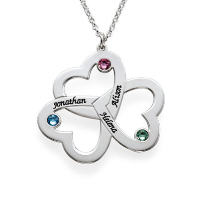Personalised Triple Heart Necklace - The Name Jewellery™