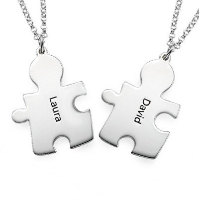 Personalised Silver Puzzle Necklace - The Name Jewellery™