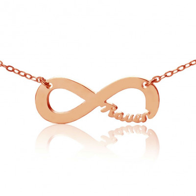 Rose Gold Plated Infinity Necklace Cut Out Name - The Name Jewellery™