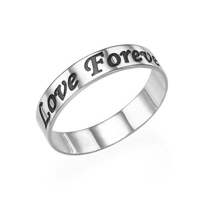 Script Sterling Silver Promise Ring - The Name Jewellery™