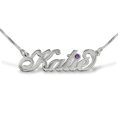 "Silver ""Carrie"" Style Swarovski Name Necklace - The Name Jewellery™"