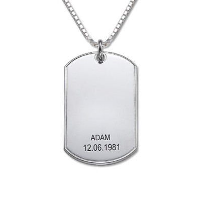 Silver Script Font Dog Tag Necklace - The Name Jewellery™