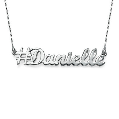 Silver Hashtag Necklace - The Name Jewellery™