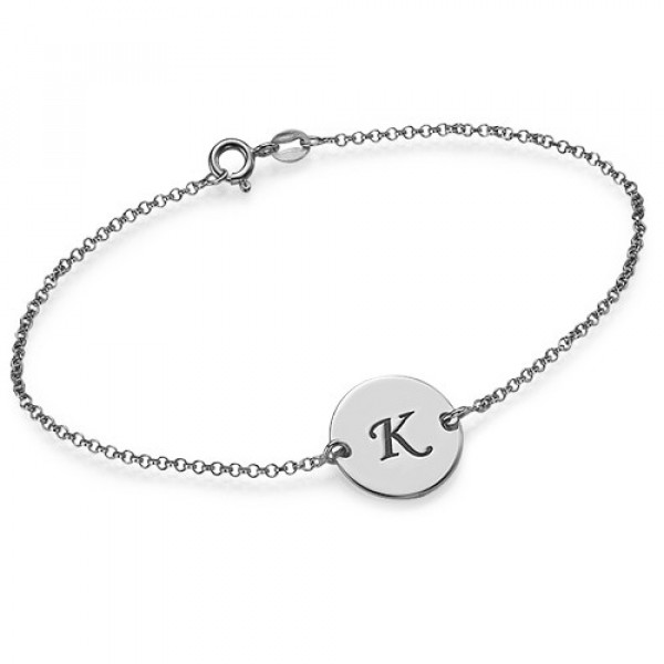 Sterling Silver Initial Bracelet/Anklet - The Name Jewellery™