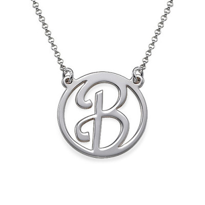 Silver Initial Pendant - The Name Jewellery™