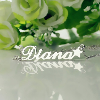 Personalised Letter Necklace Name Necklace Sterling Silver - The Name Jewellery™
