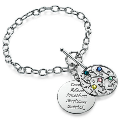 Silver Tree of Life Bracelet - Filigree Style - The Name Jewellery™