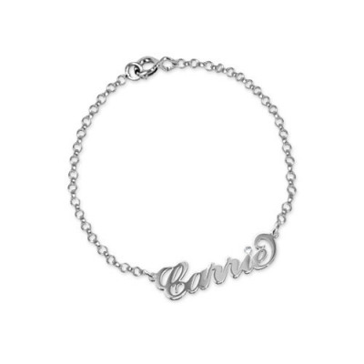 Silver and Crystal Name Bracelet/Anklet - The Name Jewellery™
