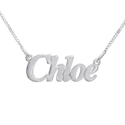 Small Angel Style Silver Name Necklace - The Name Jewellery™