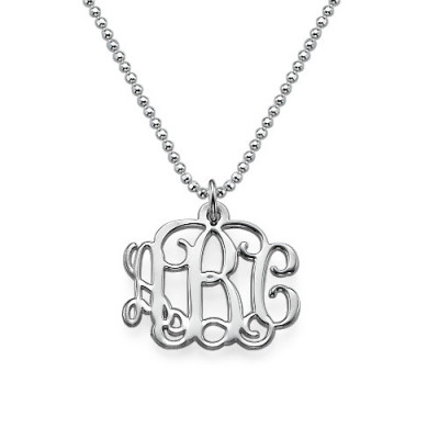 Small Silver Monogram Necklace - Smaller Version - The Name Jewellery™