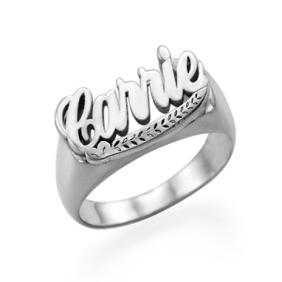 """Sterling Silver """"Carrie"""" Name Ring - The Name Jewellery™"""