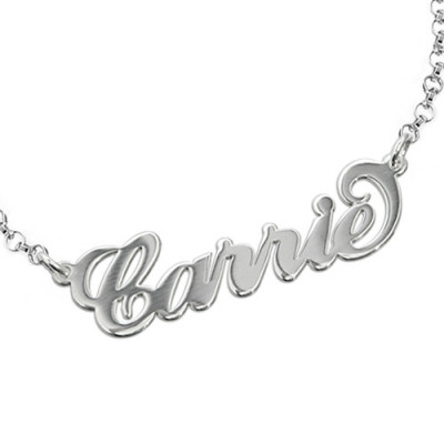 """Sterling Silver """"Carrie"""" Name Bracelet / Anklet - The Name Jewellery™"""