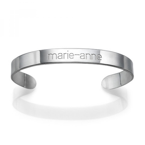 Engraved Cuff Bracelet in Silver - The Name Jewellery™