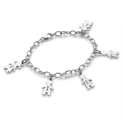 Sterling Silver Engraved Mothers Day Bracelet/Anklet - The Name Jewellery™