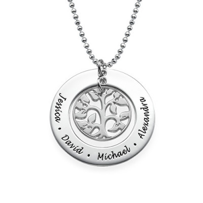Silver Family Tree Necklace - The Name Jewellery™